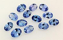 Natural African Tanzanite 4.92ctw Loose Gemstone 13pcs - L20570