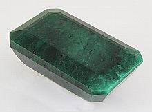 Emerald 121.76ctw Loose Gemstone 38x24x17mm EmeraldCut - L20518