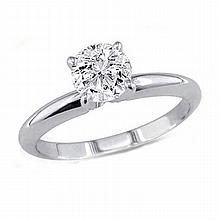0.60 ct Round cut Diamond Solitaire Ring, I-J, SI2 - L11490