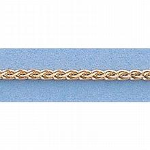 Pure Gold 16 14kt Italian Gold-Yellow or White 1.1mm, Wheat Chain Gauge:030, 2.80gr - L11241