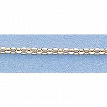 Pure Gold 16 14kt Italian Gold-Yellow or White 1.2mm, D/C Boston Chain Gauge:030, 1.4gr - L11253