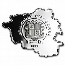 Andorra 2013 Proof Silver Nature Treasure Map Shaped - Owl - L29106