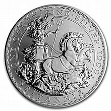1999 1 oz Silver Britannia (Brilliant Uncirculated) - L31553