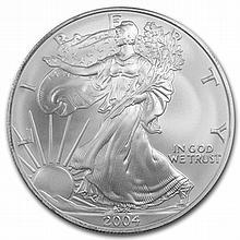 2004 1 oz Silver American Eagle (Brilliant Uncirculated) - L29756