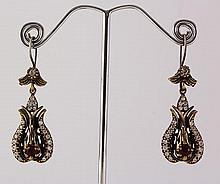 Natural Stone Antique Design Dangle Earring - L23092