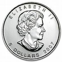 2007 1 oz Silver Canadian Maple Leaf (Brilliant Uncirculated) - L31828