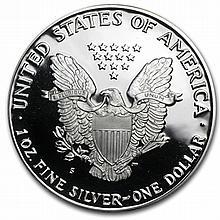 1990-S 1 oz Proof Silver American Eagle (w/Box & CoA) - L29882