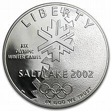 2002-P Olympic Winter Games $1 Silver Commem PR-69 DCAM PCGS - L30486
