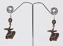 Natural Stone Antique Design Dangle Earring - L23081