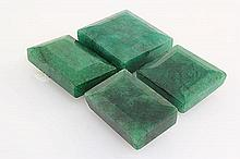 154.73ctw Faceted Loose Emerald Beryl Gemstone Lot of 4 - L20394