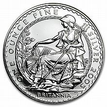 2005 1 oz Silver Britannia (Brilliant Uncirculated) - L30109