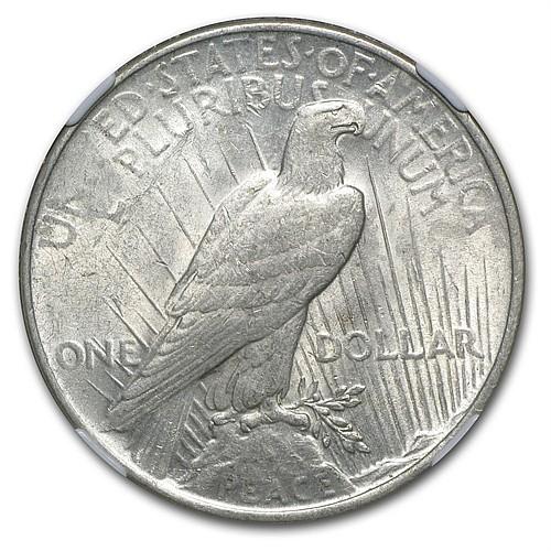 1922 Peace Dollar AU-58 NGC Struck Thru Grease Mint Error