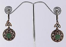 Natural Stone Antique Design Dangle Earring - L23087