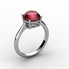 Garnet 2.50 ctw Ring 14kt White Gold - L15202