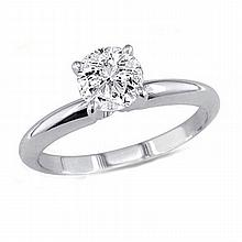 0.35 ct Round cut Diamond Solitaire Ring, G-H, SI2 - L11424