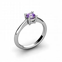 Amethyst 0.40ctw Ring 14kt White Gold - L10956