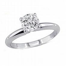 0.75 ct Round cut Diamond Solitaire Ring, G-H, I1-I2 - L11400