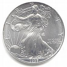 Uncirculated Silver Eagle 1997 - L17935