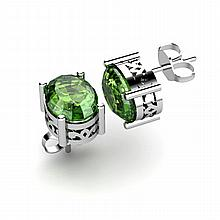 Tourmaline 2.36ctw Earring 14kt White Gold - L11116
