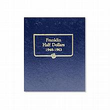 Circulated Franklin Half Dollar Set 1948-1963 (In Estate Album) - L19465