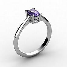 Tanzanite 0.48 ctw Ring 14kt White Gold - L15233