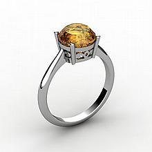 Citrine 1.80 ctw Ring 14kt White Gold - L15200