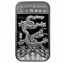 10 oz Year of the Dragon Silver Bar .999 Fine - L24762