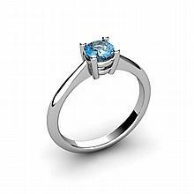 Aqua Marine 0.45ctw Ring 14kt White Gold - L10957