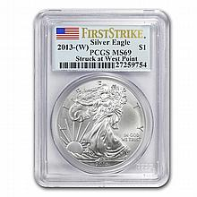 2013 Silver American Eagle MS-69 PCGS (First Strike) - L22814