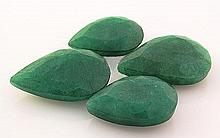 154.76ctw Faceted Loose Emerald Beryl Gemstone Lot of 4 - L20411