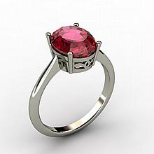 Garnet 2.80 ctw Ring 14kt White Gold - L15276