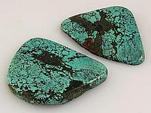 Natural Turquoise 106.08ctw Loose Gemstone 2pc Big Size - L21106