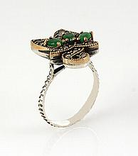 Natural Stone Statement Victorian Design Ring - L23165