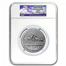 2010-P 5 oz Silver ATB Mount Hood NGC SP-70 Early Releases - L24819
