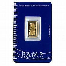 2.5 Gram Gold Bar Pamp Suisse - L18126