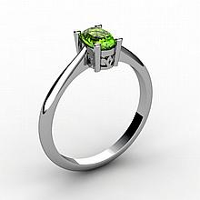 Peridot 0.50 ctw Ring 14kt White Gold - L15230