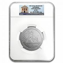 2011-P 5 oz Silver ATB Vicksburg SP-70 Early Release - NGC - L24904