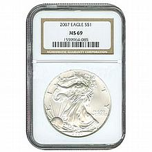 Certified Proof Silver Eagle PF69 2007 - L17988