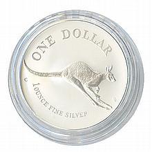 Australian Kangaroo 1 oz. Silver 1994 - L18208