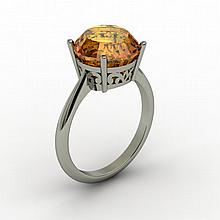Citrine 3.30 ctw Ring 14kt White Gold - L15213