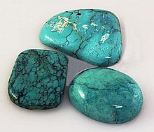 Natural Turquoise 244.60ctw Loose Gemstone 3pc Big Size - L21210