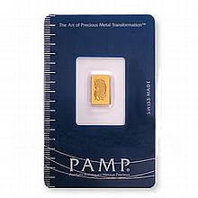 One Gram Gold Bar Pamp Suisse - L18125