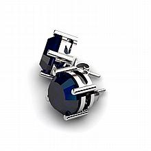Sapphire 9.00ctw Earring 14kt White Gold - L10951