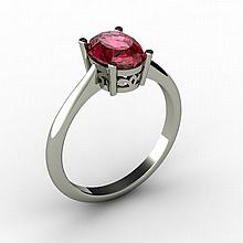 Garnet 1.40 ctw Ring 14kt White Gold - L15252
