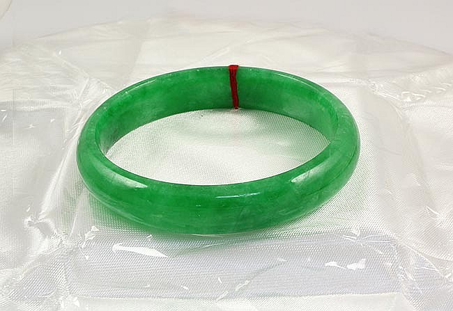 Chinese Antique Jade Bangle - L24078