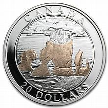 2004 Canada 1 oz Silver $20 Natural Wonders - Hopewell Rocks - L29585
