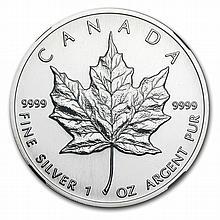 1993 1 oz Silver Canadian Maple Leaf MS-68 NGC - L28559