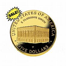 Gold $5 Commemorative 2001 Capital Visitor Proof - L18415