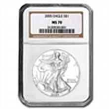 2005 Silver American Eagle (NGC MS-70) - L22861