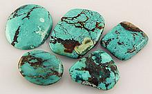 Natural Turquoise 137.31ctw Loose Small Gemstone Lot of 5 - L21250